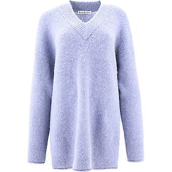 Acne Studios A60178dustyblue Women-apos;s Light Blue Nylon Sweater