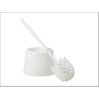 Qué más estándar cepillo de inodoro conjunto blanco 10590