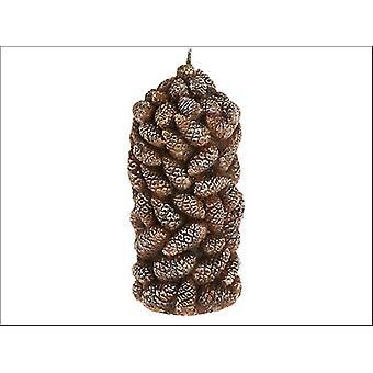 C B Import Søjle Candle Pine Kegle 15cm