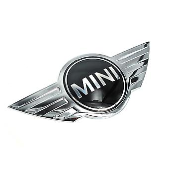 Chrome/Black Mini Cooper Badge Front Grill Bonnet Badge Emblem Bonnet Rear Boot Lid Trunk Emblem Sticker Cooper Works