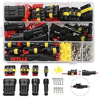 Dropship 352st HID Vattentäta kontakter 1/2/3/4 Pin 26 Ställer bil elektrisk trådkontakt plug truck sele 300V 12A