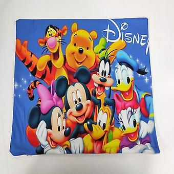 Disney Cartoon Winnie, Bear, Mickey, Minnie Print Pillow Cover
