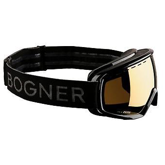 Bogner yksivärinen kulta musta hiihtomaski