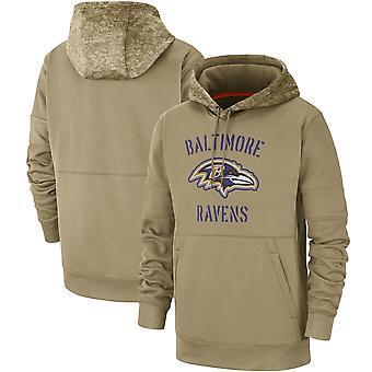 Men's Baltimore Ravens Slant Strike Tri-Blend Raglan Pullover Hoodie Top WYG062
