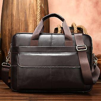 Men's Briefcase, Genuine Leather Laptop Bag