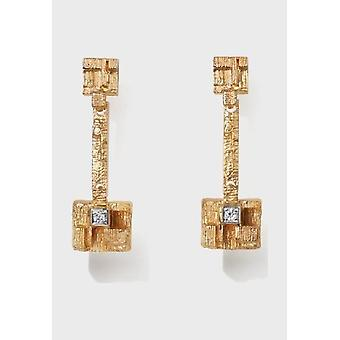 Kalevala Earrings Women Thai 14K Gold Diamonds 1651530TIT