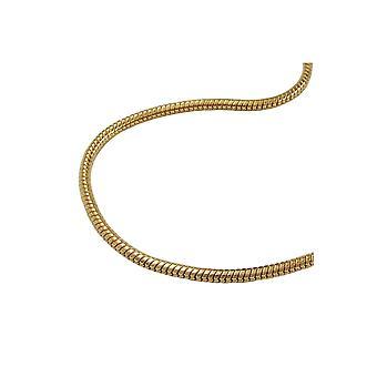 halskjede runde slange kjede gullbelagt