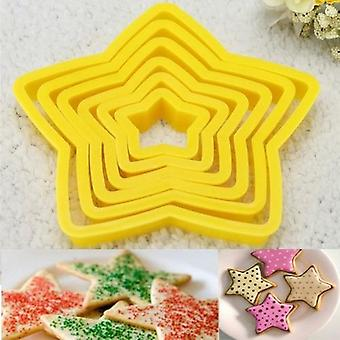 Xmas Tree Stars Shape Fondant Cake Biscuit Cutter Mold 3d Baking Tool