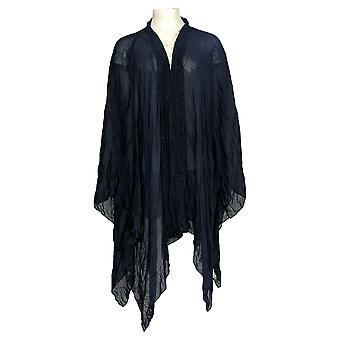 Rachel Hollis Ltd Women's Plus Sweater Printed Kimono Blue A365632