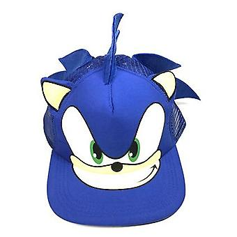 3d Blue Cute Sonic The Hedgehog Cartoon Youth Adjustable Baseball Cap
