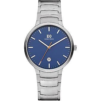 Dänisches Design Faro große Uhr - Silber/Blau