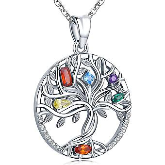 Tree of Life Necklace for Women Girls, Sterling Silver Pendant  Jewellery