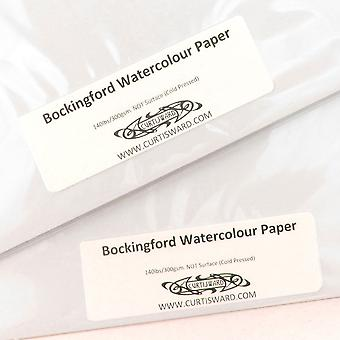 Bockingford artists cold pressed (not surface) watercolour paper a4 pack 20 sheets 300g curtisward p