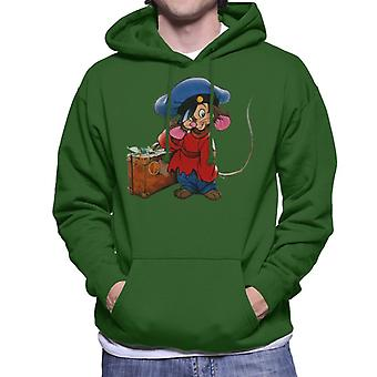 An American Tail Fievel Mousekewitz And Suitcase Men's Hooded Sweatshirt