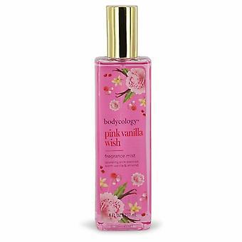 Bodycology Pink Vanilla Wish by Bodycology Fragrance Mist Spray 8 oz / 240 ml (Women)