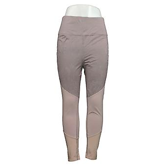 Tracy Anderson for G.I.L.I. Leggings Color-Blocked Pull-On Brown A374972