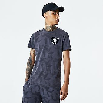 Nova Era Las Vegas Raiders Geometric Grey Camo T-shirt