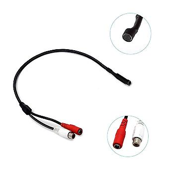 Audio Microphone Rca Power Cable For Cctv Security Camera