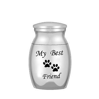 Openmorial Urns Pet Dog Cat Ash Kista Kremering Urn Metall Smycken Skruvskydd