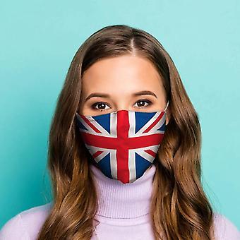 Grã-Bretanha união jack bandeira reutilizável cobertura facial - grande