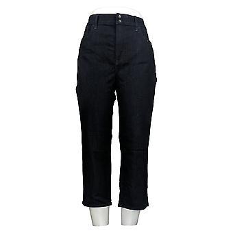 NYDJ Women's Cool Embrace Skinny Crop Jeans w/Side Slits Blue A377693