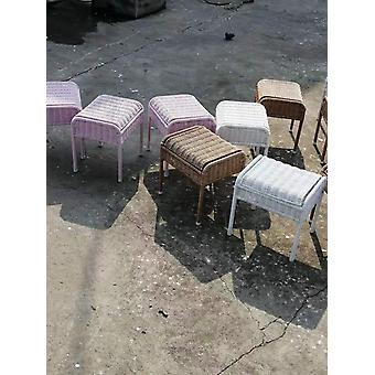 Portaoggetti per bambini Sedile rattan sgabello con vano portaoggetti nascosto