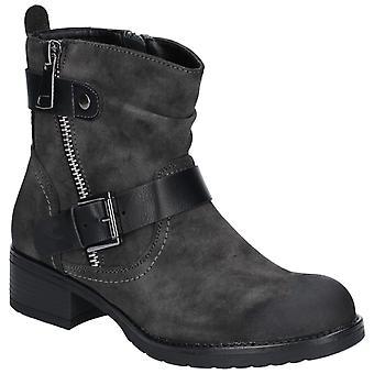 Divaz Jett Womens Ladies Ankle Boots Dark Grey UK Size