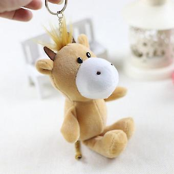12cm Soft Forest Animal Plush Stuffed Small Pendant Key Chain