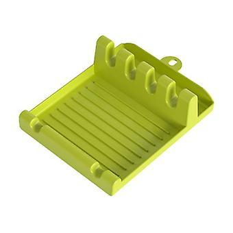 Porta-colheres de cozinha de plástico Paraquedista de prateleira de prateleira de prateleira organizadora de colher descanso