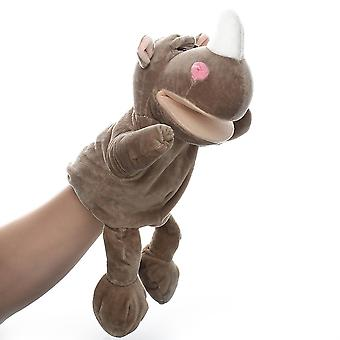 Rhinoceros Hand Puppets Animal Toy for Imaginative Play, Storytelling, Teaching