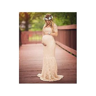 Maternity Gown Lace Maxi Dresses Women Photography Pregnancy Dress For Photo