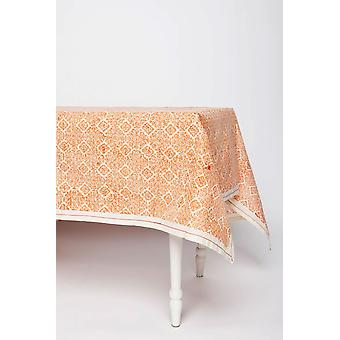 Spura casero hecho indio oriental mosaico rosa algodón mantel 5'x5'