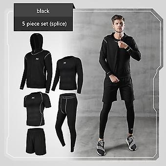 Running Sets, Men's Gym Sportswear Suit, Fitness T-shirt, Shorts Sports