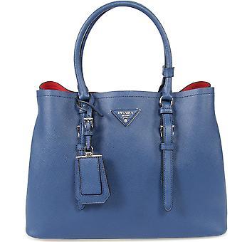 Prada Double Leather Bag Model 1BG838 F0021 | Inchiostro/Ink Blue