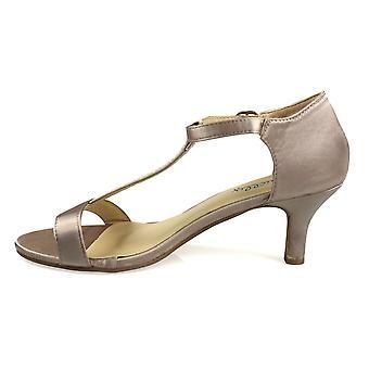 Open Toe Satin Sandal Rose Gold