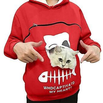 Husdjursbärare förtjockar hoodieshållare djurpåse andningsbara pullovers