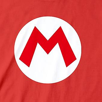 Super Mario Unisex adultos insignia camiseta