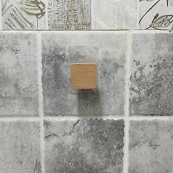 Nail-free Sticker Towel Rack For Bathroom, Wooden Hook