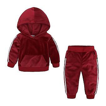 Baby Velvet Hooded Clothing Set