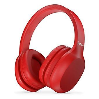 Cuffie Bluetooth Lenovo HD100 con connessione AUX - Cuffie con microfono DJ cuffie rosse