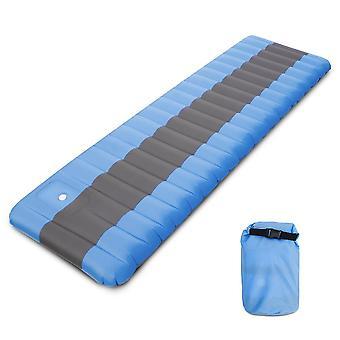 Coussin de couchage gonflable d'air de tapis de camping avec la randonnée intégrée de sac à dos de pompe de pied voyageant