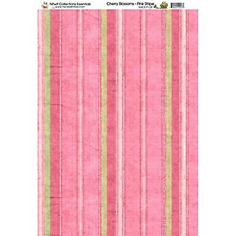 Nitwit Collection - CB Pink Stripe Paper A4 10 Sheets