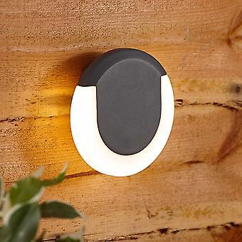 Biard Circular Crescent Halo Outdoor Garden Wall Light - Integrated LED IP54 A++