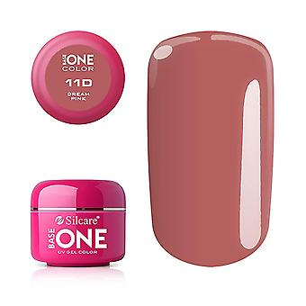 Base one - Farve - UV Gel - Dream Pink - 11D - 5 gram