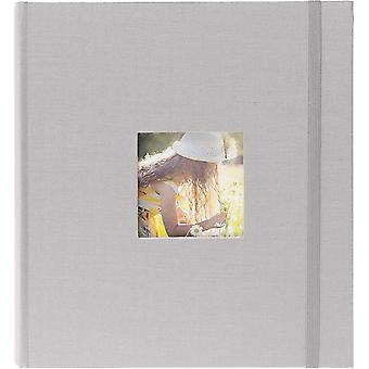 """Gerui Grey Linen Photo Album for 200 Photos 7x5"""" / 13x18cm with Space for Photograph on Front"""