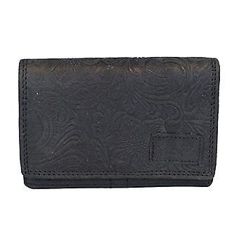 Arrigo 02C-337BP-Zwrt, Leather Wallet. Woman, Black, Medium