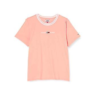 Tommy Jeans Tjw Summer Logo Ringer Camiseta, Rosa (Melocotón Dulce), Mujer XXS