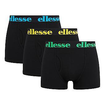 Ellesse Hali 3 Pack Trunks - Black