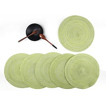 Ruokapöytämatto 6-osainen pyöreä paikka lämmönkestävät matot