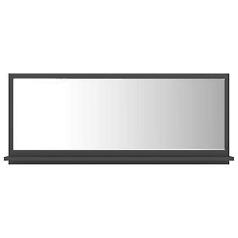vidaXL Badspiegel Grau 90x10,5x37 cm Spanplatte